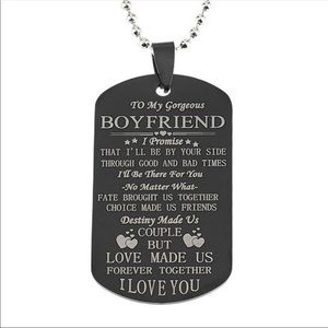 Other - To My Boyfriend ❤️ Dog Tag Necklace